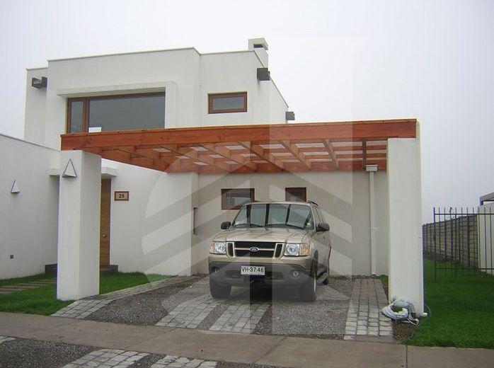 Resultado de imagen para casas con estacionamiento de for Cobertizo de jardin moderno de techo plano