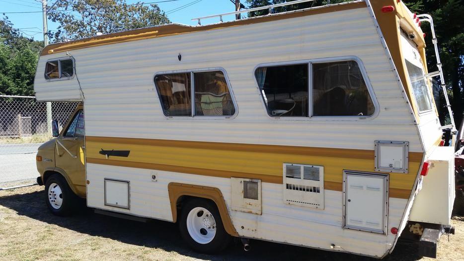 20 Vanguard Chevy Motorhome 350 Eng 1975 Chevrolet Van Chevy Van Motorhome