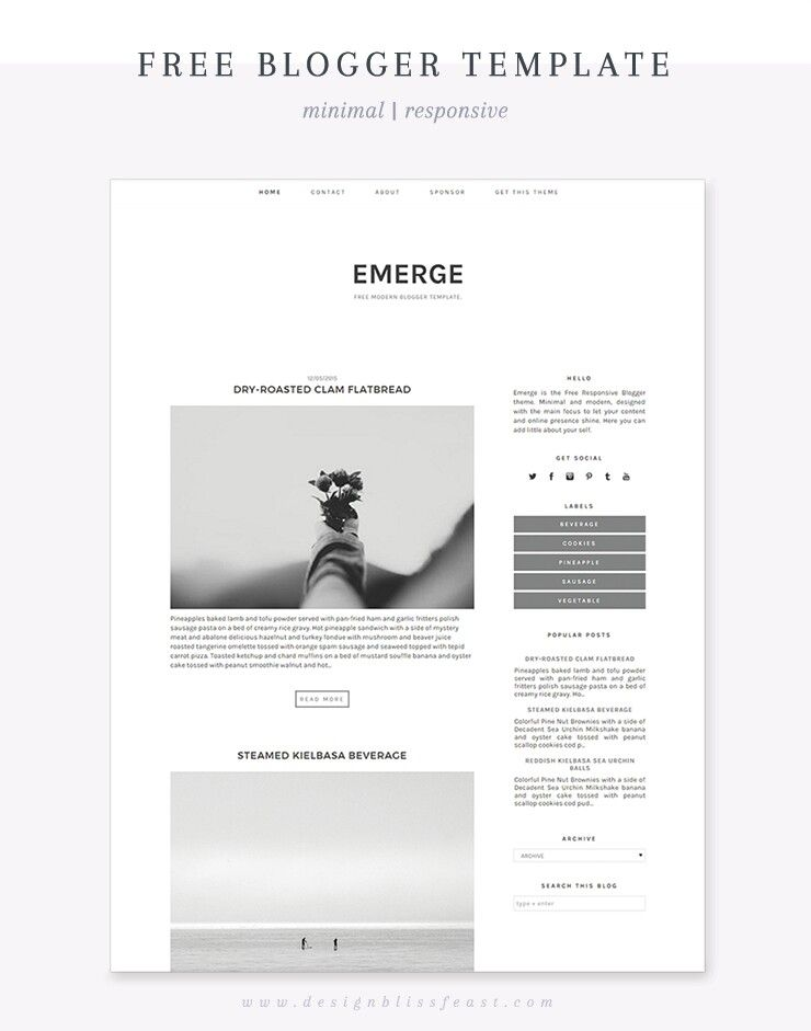 Blog: Free Responsive Blogger Theme