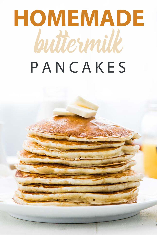 Homemade Buttermilk Pancakes Recipe Recipe Homemade Buttermilk Pancakes Pancake Recipe Buttermilk Buttermilk Pancakes
