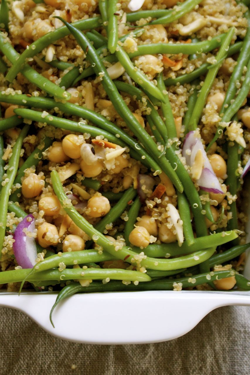 Easy quinoa cumin french bean pilaf in pursuit of