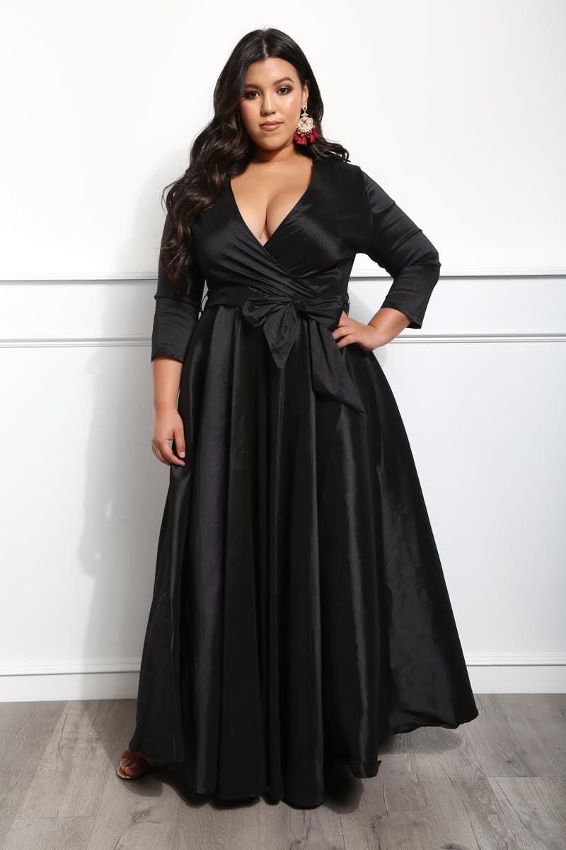 Detail view reserved seats plus size maxi dress my style i
