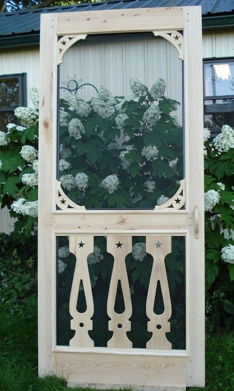 Superb Victorian Balusters Cypress Screen Door By PortHermanDesigns, $295.00