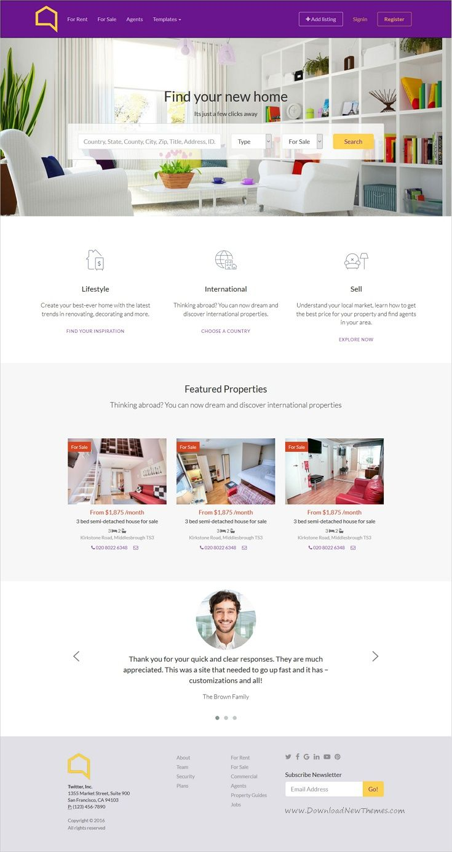 Fein Bootstrap Immobilien Vorlage Fotos - Entry Level Resume ...