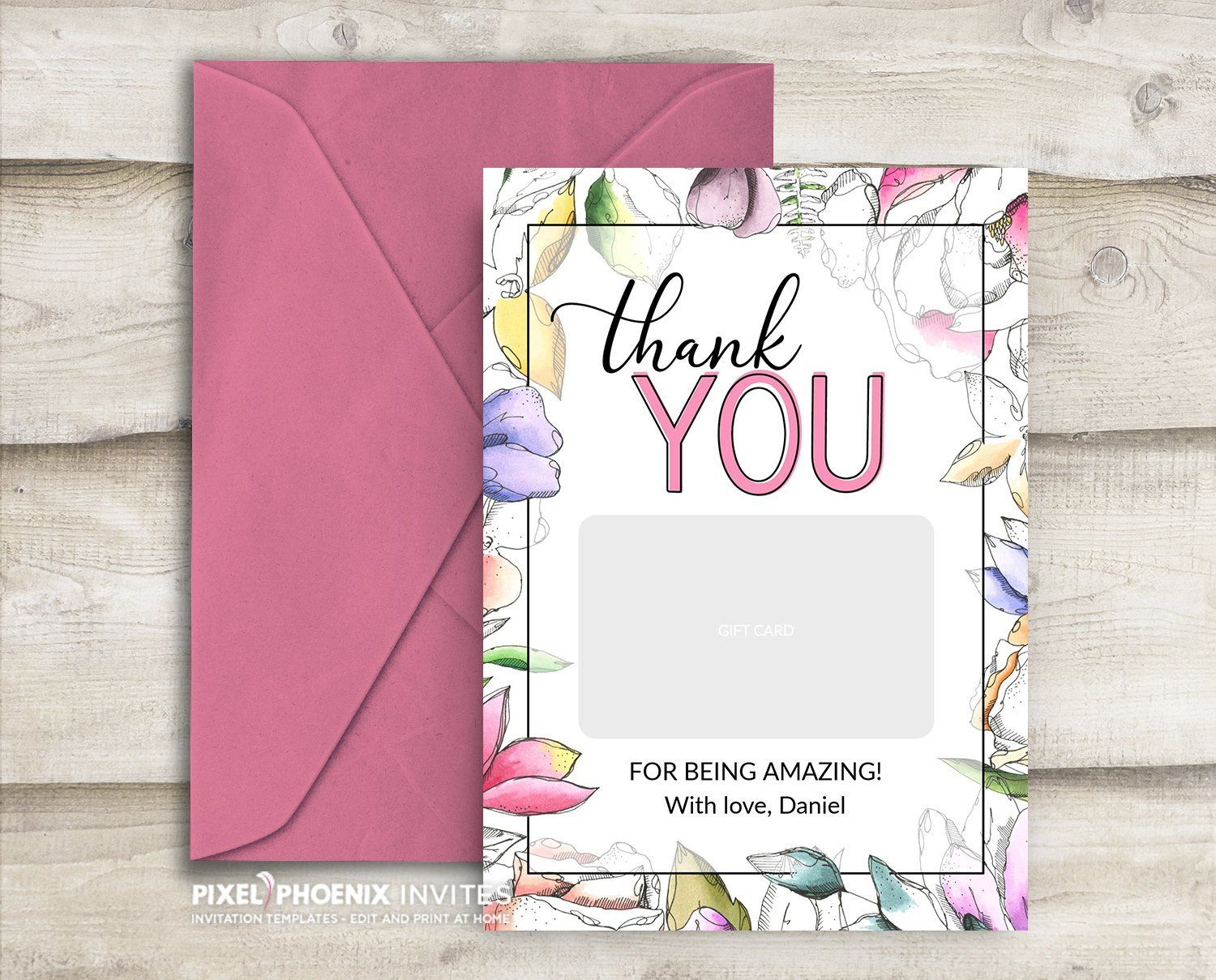 Gift Card Holder Teacher Appreciation Gift Teacher Thank You Card Coach Gift Graduation Teacher Thank You Cards Gift Card Holder Gift Card Holder Template