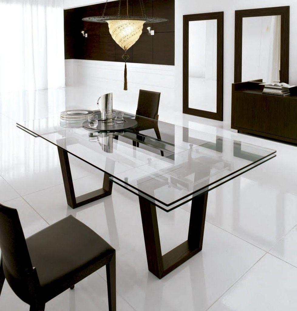Mesa de cristal para el 979 1024 silla comedor pinterest spaces and room - Mesa de comedor cristal ...