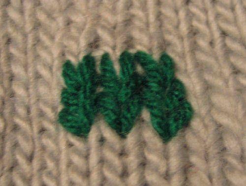 How to add duplicate stitch to knitting