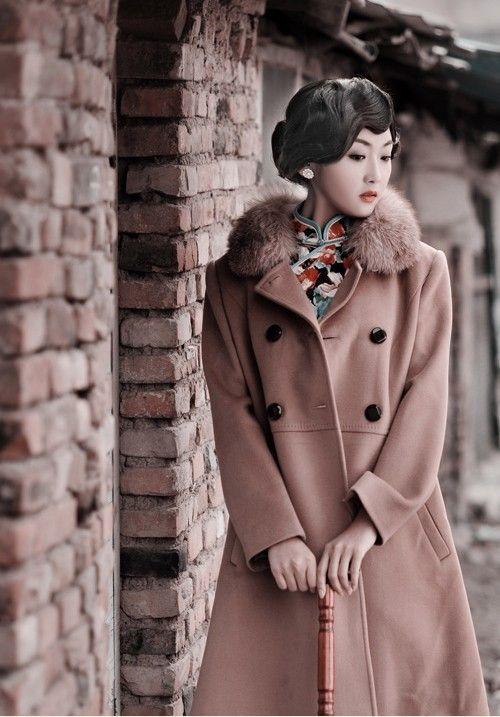 with coat