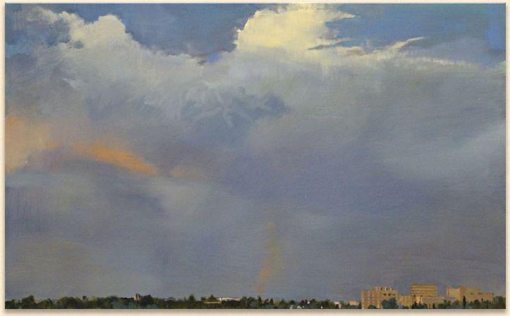 Terry Fenton, ILLUMINATION, Storm rise over U of S, Saskatoon. 2011 ...