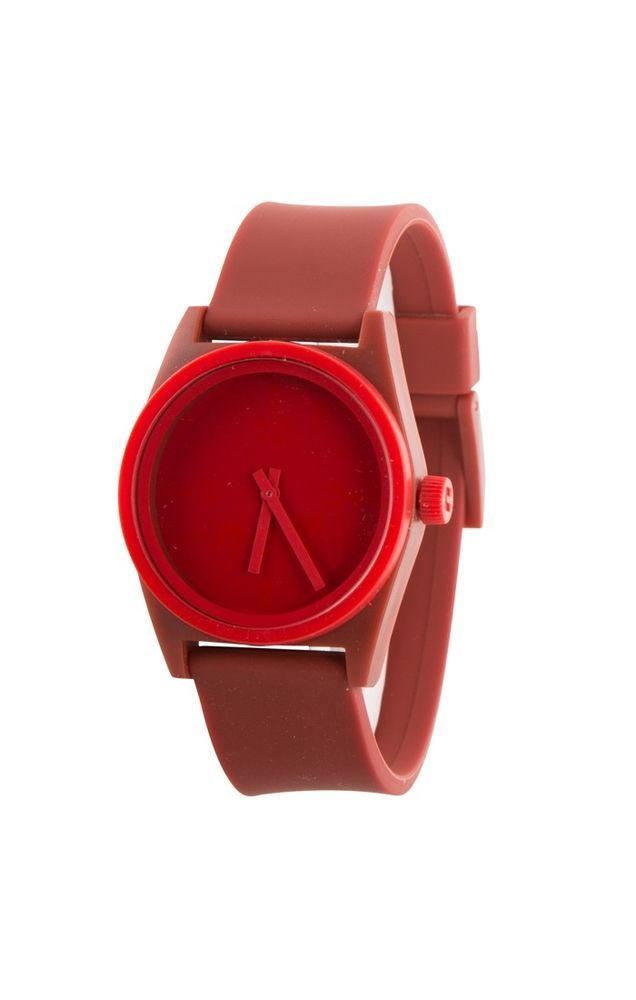 Neff Duo Watch Maroon Red Silicone Rubber Adjustable Band Water Resistant  #Neff #Fashion
