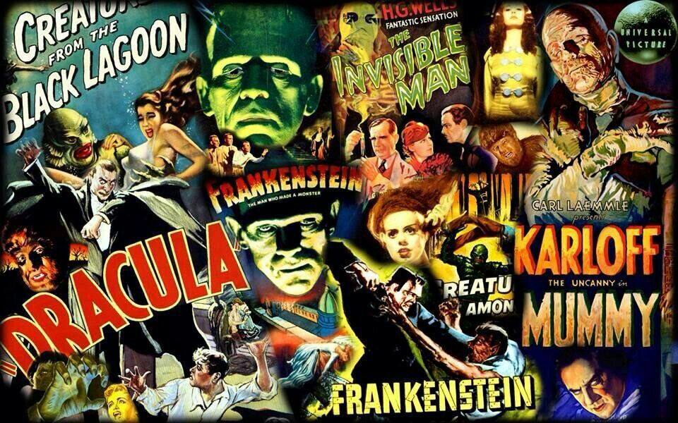 Collage Classic Monsters | Monster horror movies, Classic monster movies,  Movie monsters