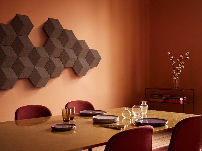 Designed To Be Easily Customised Into Honeycomb Like Patterns The Wireless Wall Mounted Panels Can Not Only Play Or B In Wall Speakers Design Milk Wall Colors