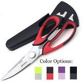 #kitchenware #kitchentools #4: Kitchen Scissors Shears by Pridebit - Multifunction Heavy Duty Come-Apart Kitchen Shears with Magnetic Holder