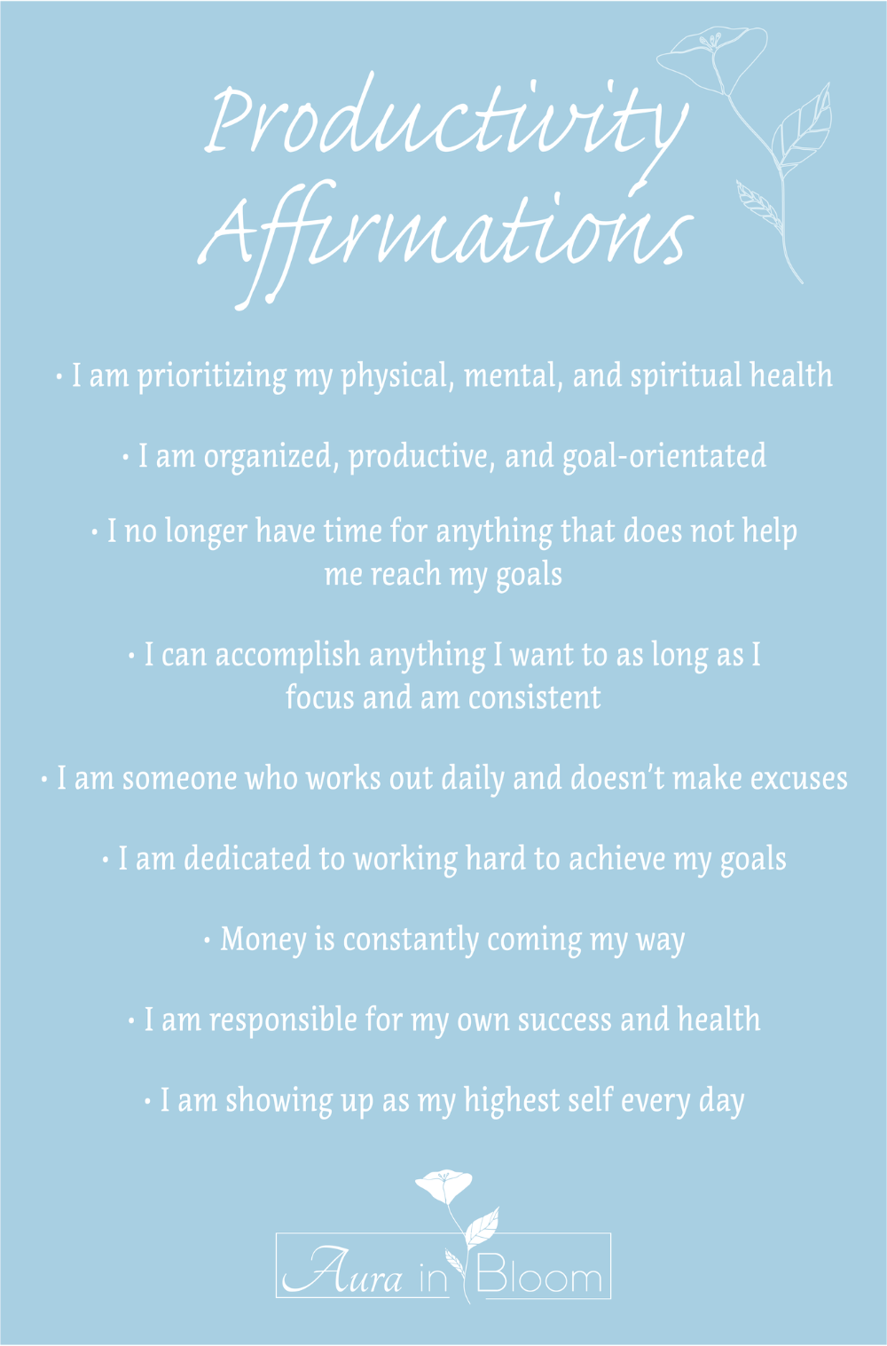 A Collection of Productivity Affirmations