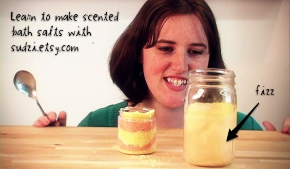 How-Tuesday: Fizzy Bath Salts with Sudzi and the Etsy Labs | The Etsy Blog