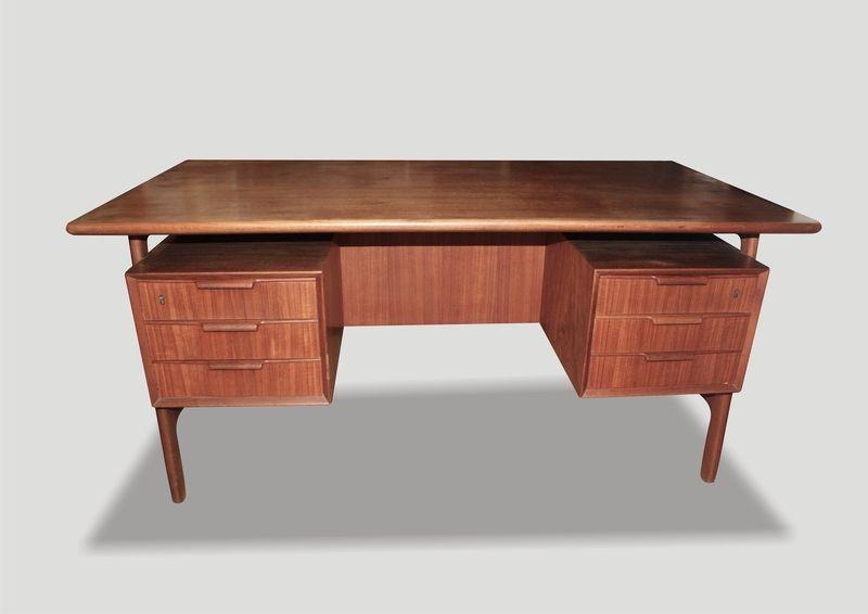 Teak Schreibtisch Gunni Oman Danisches Design Von Mobilar Interieur Auf Dawanda Com Desk Design Interior Teak