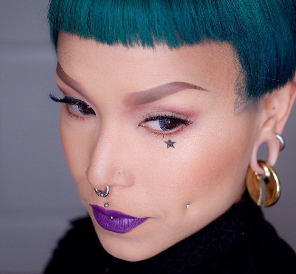 High up nose piercing  Pin by jenna  on transform urself   Pinterest  Piercing and Makeup