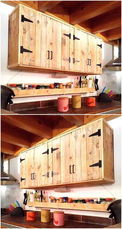 Gabinetes aéreos de cocina con palets palochina project in
