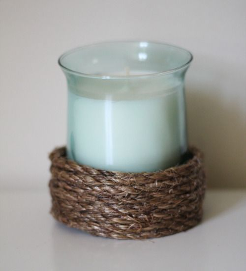 Rope Candle Holders - 52 Weeks Project