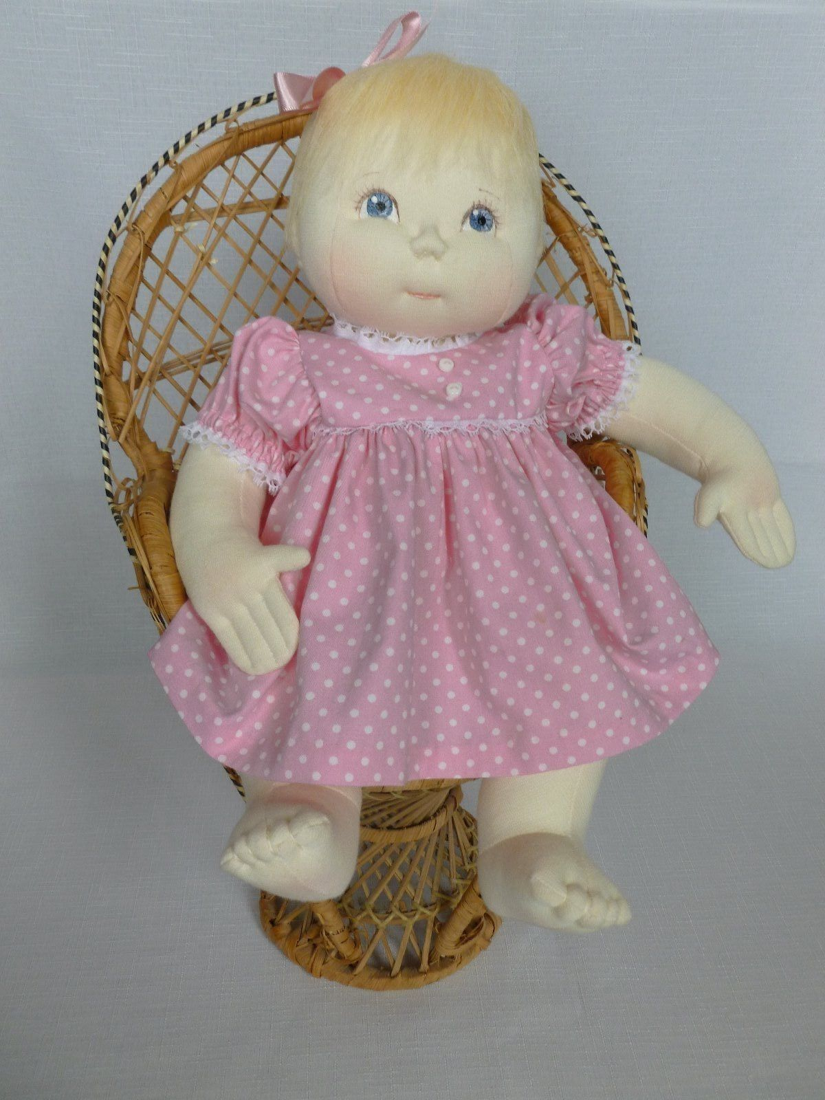 "PATSY A 15"" handmade rag cloth needle sculpture baby doll by Brenda"