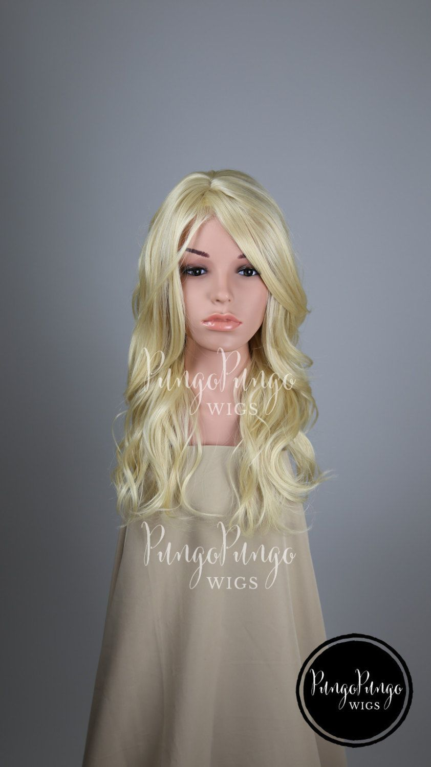 platinum blonde wig long wig bangs curly wavy fashion beauty halloween costume barbie - Halloween Costumes With Blonde Wig