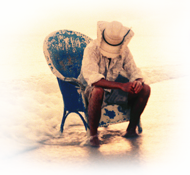 Kenny in his old blue chair