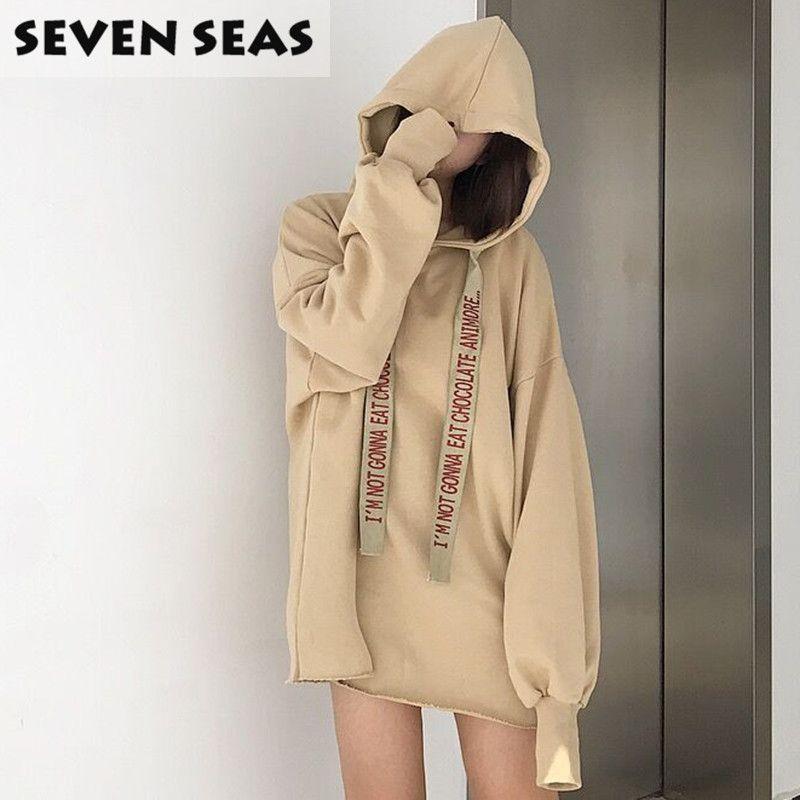 e34a7c6916 Korean Style Preppy Casual Loose Tops Pullover Long Hoodies Oversized  Sweatshirts Women Long Sleeve Blouse Sweat Femme-in Hoodies   Sweatshirts  from Women s ...