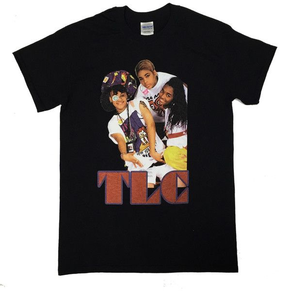 Custom TLC Vintage Classic 90s Hip Hop T-shirt ($40) ❤ liked on