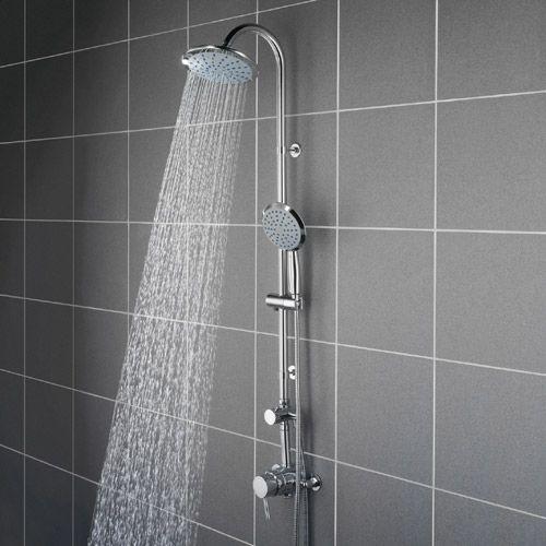 Bristan Prism Surface Mounted Shower Valve - Rigid Riser & Diverter ...