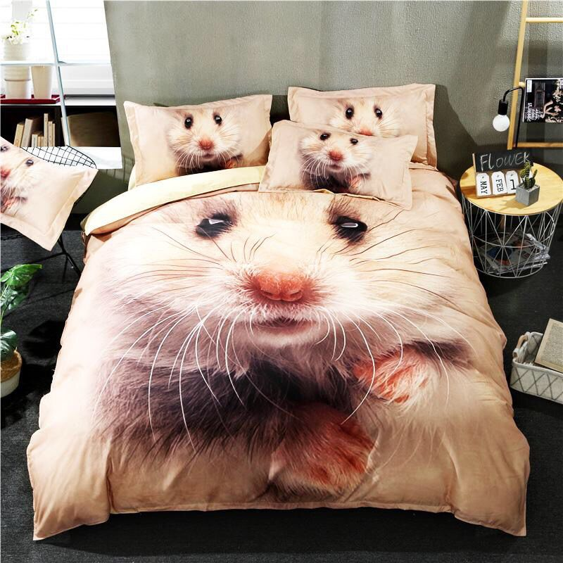 This beautiful hamster bedding set is really beautiful