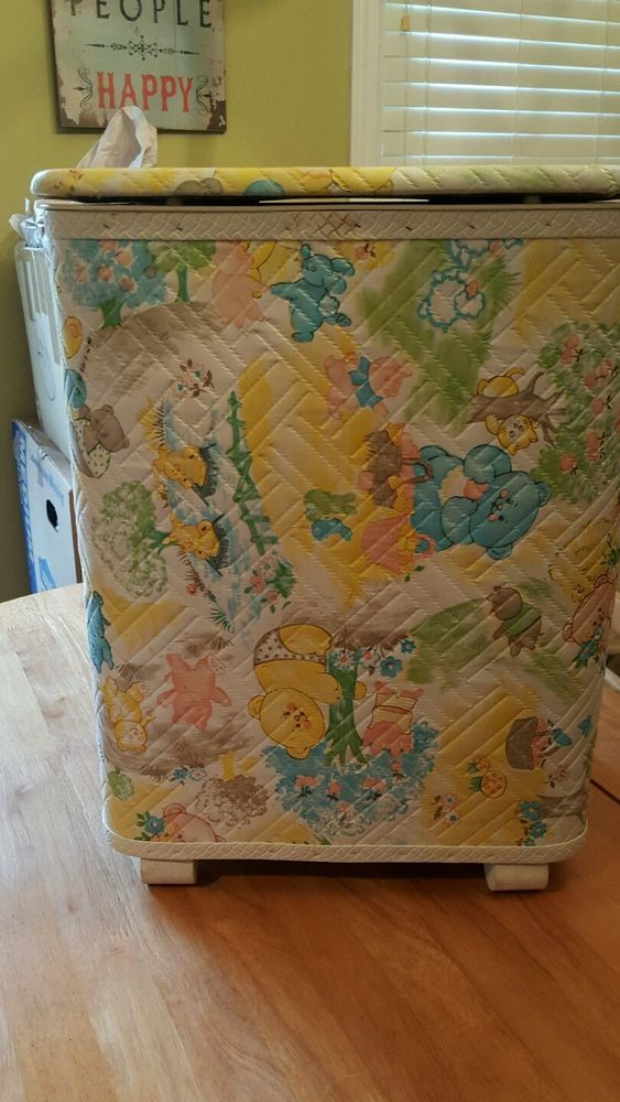 Vintage Baby Bath Bedroom Clothes Hamper | eBay | Hampers ...