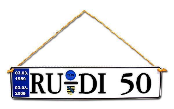 Geschenk Zum 50 Geburtstag Geburtstagsgeschenk Schild Mit Tüv
