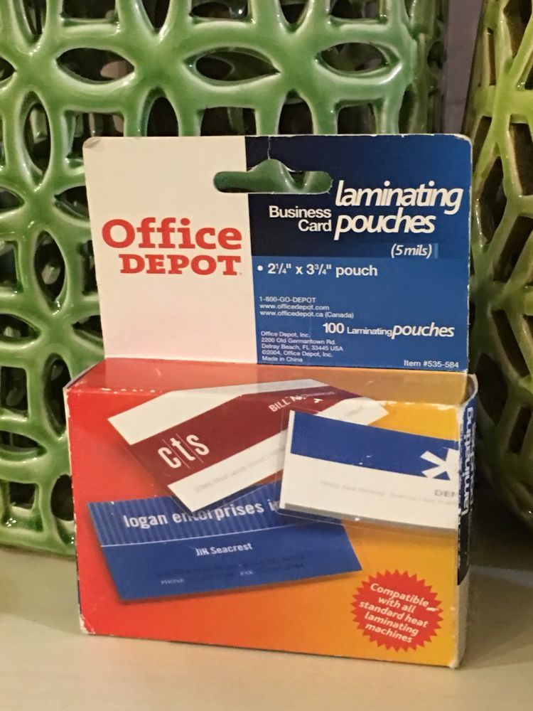 Office Depot Business Card Laminating Pouches | Business cards ...