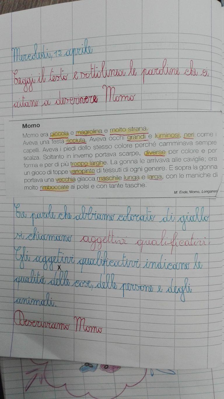 Classe seconda italiano aprile gli aggettivi maestra for Maestra carmelina classe seconda