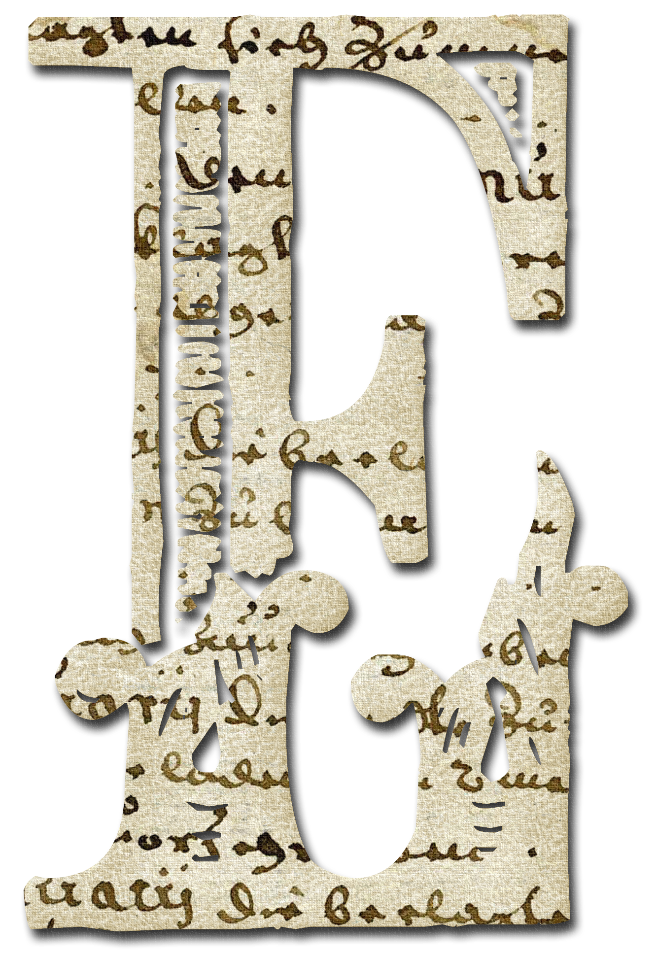 Alfabeto papel antiguo...E