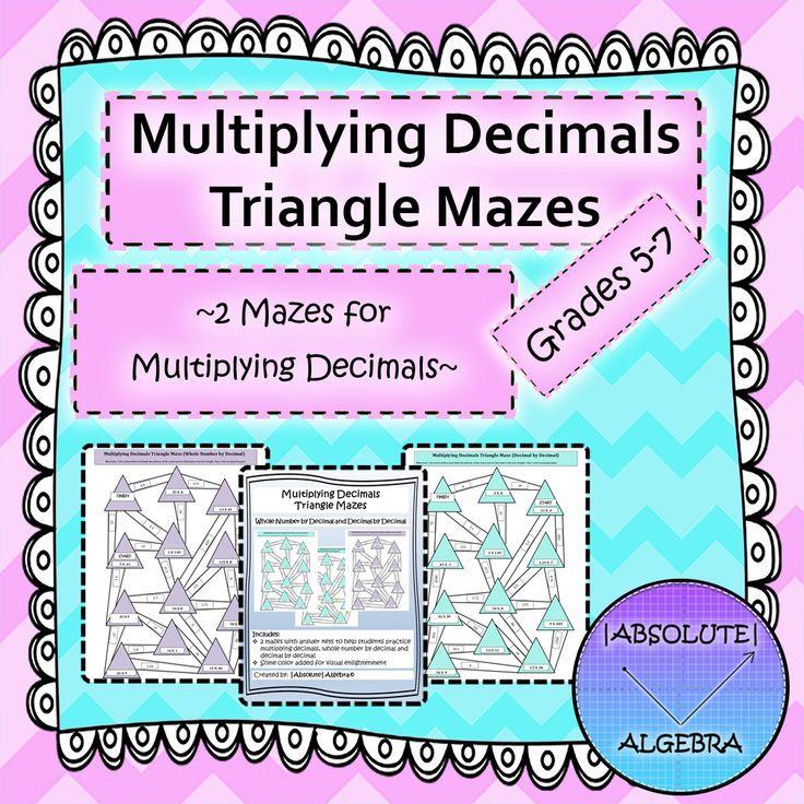 Multiplying Decimals (Triangle Mazes) | Multiplying decimals ...