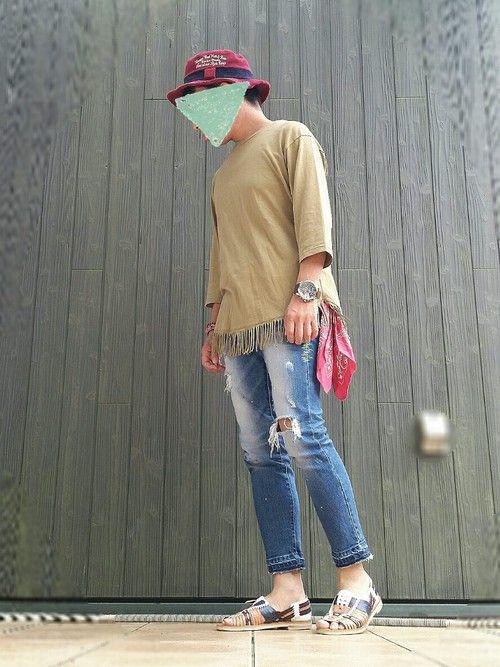いんちょ。|バンダナ・スカーフを使ったコーディネート - WEAR