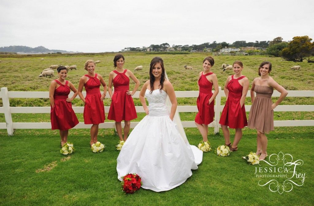 Awesome Red Dresses For Weddings Bridesmaid