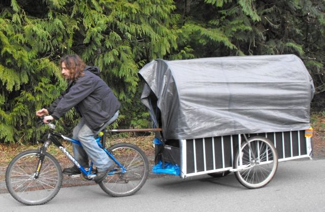This Was Made From An Old Futon Bed Frame Bicycle Trailers