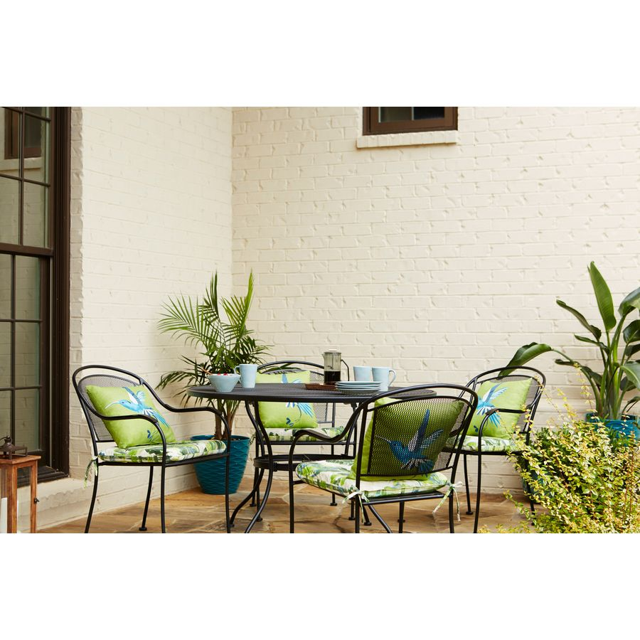 Garden Treasures Davenport Stackable Steel Dining Chair With Mesh