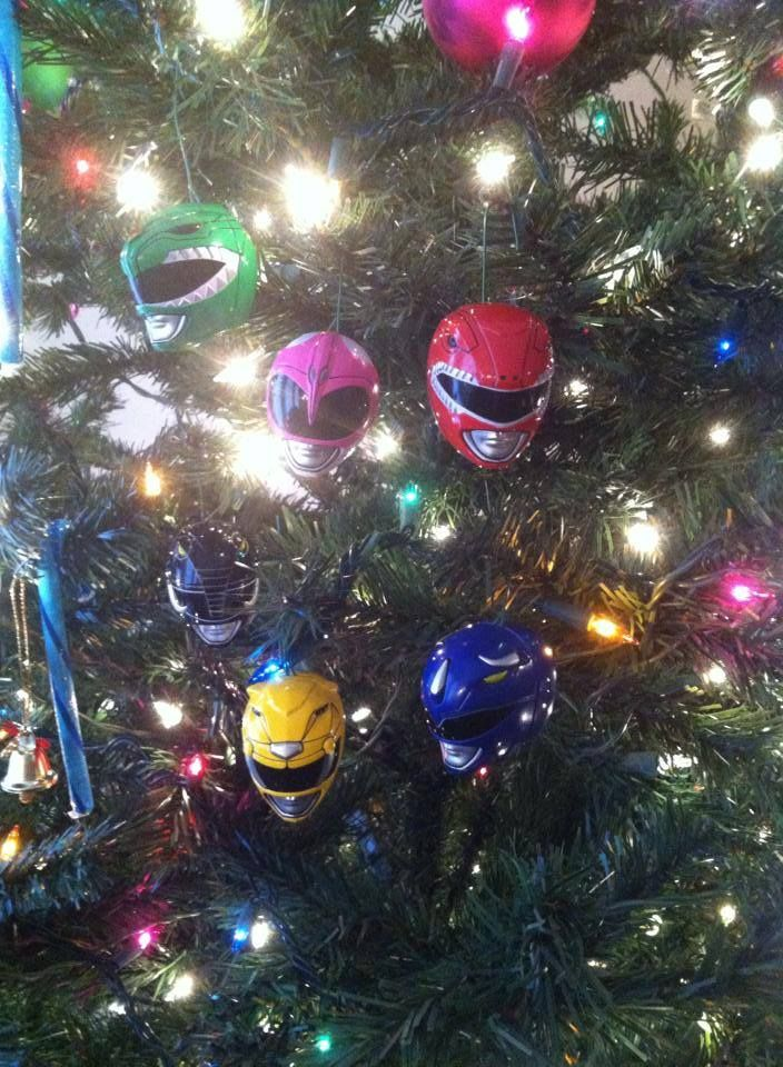 Power Rangers Christmas Tree.Power Rangers Christmas Ornaments Power Rangers Power