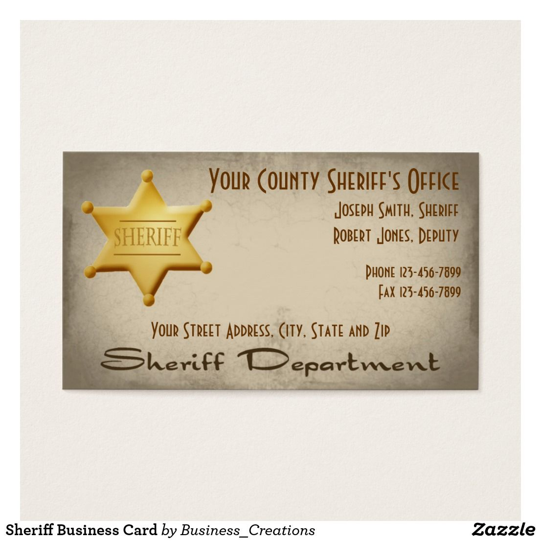 Sheriff business card custom check out more business card designs sheriff business card custom check out more business card designs at httpwww magicingreecefo Image collections
