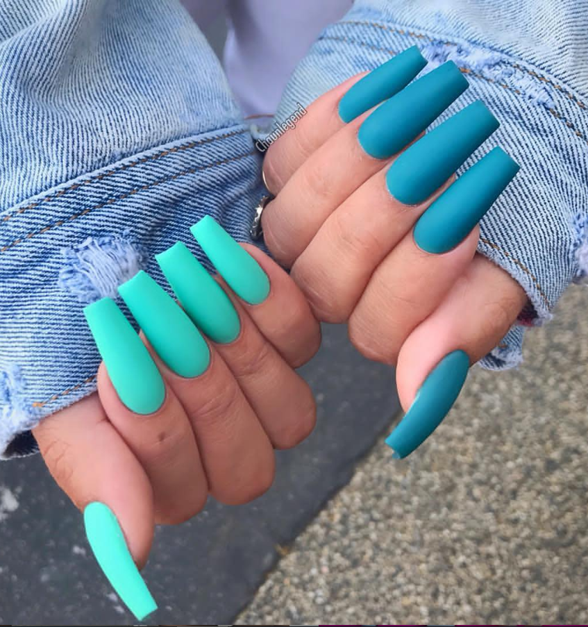 30 Natural Matte Coffin Nails Design With Different Colors For Spring Summer Latest Fashion Trends For Woman Long Acrylic Nails Best Acrylic Nails Pretty Acrylic Nails