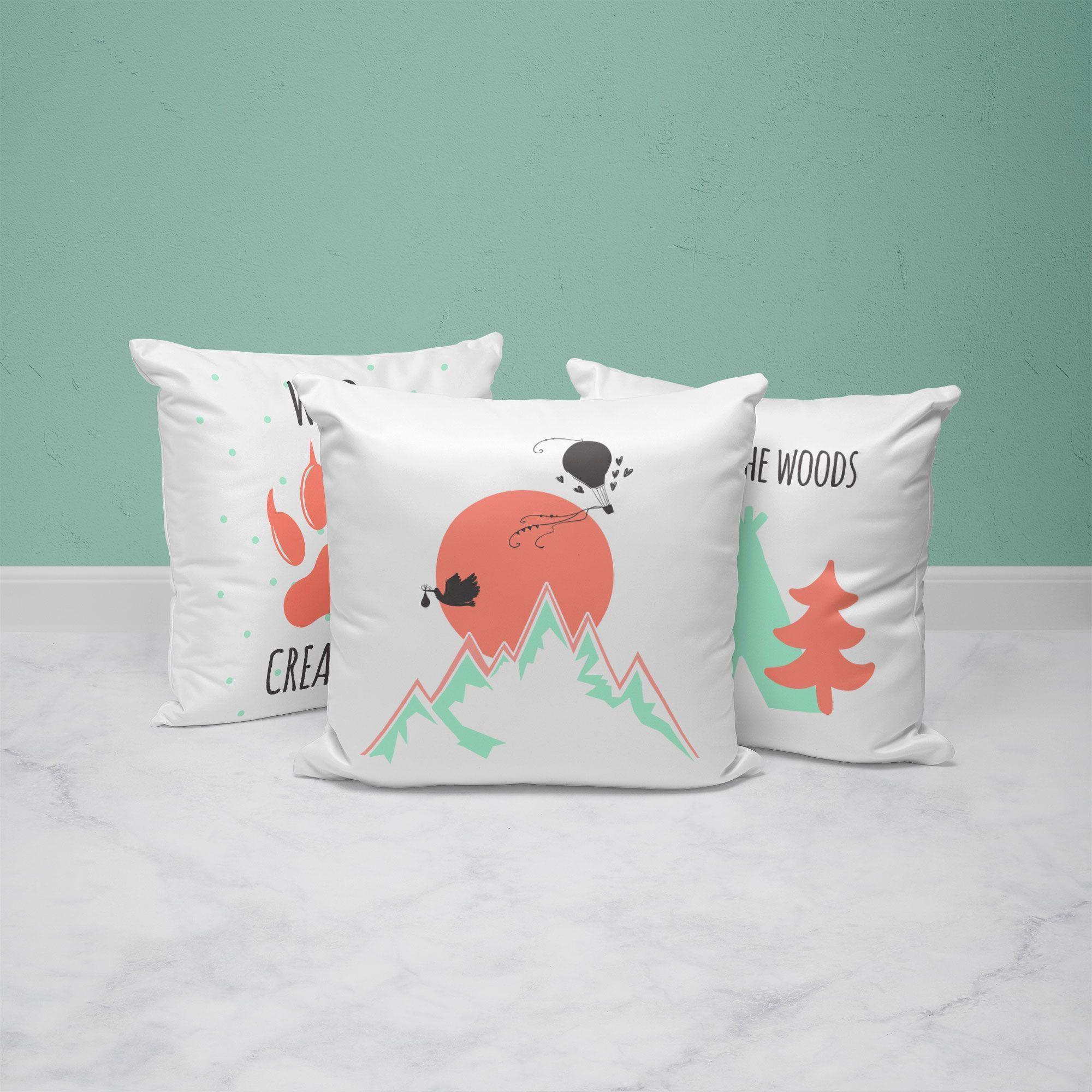 Wild Creature Kids Throw Pillow Set In 2020 Kids Pillows Throw