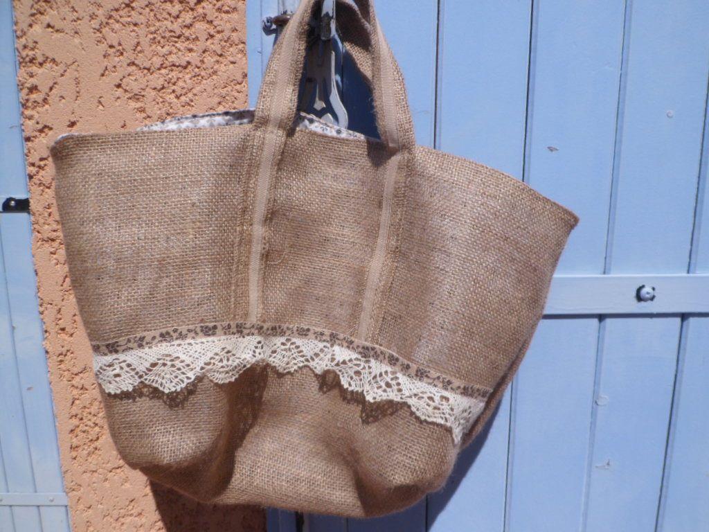 Sac À Patates Toile De Jute sac de plage en toile de jute et dentelle : sacs à main par