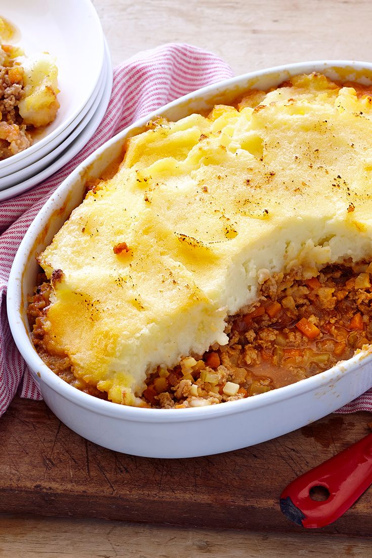 Shepherd S Pie With Turkey Recipe Recipes Mince Recipes Baked Dishes