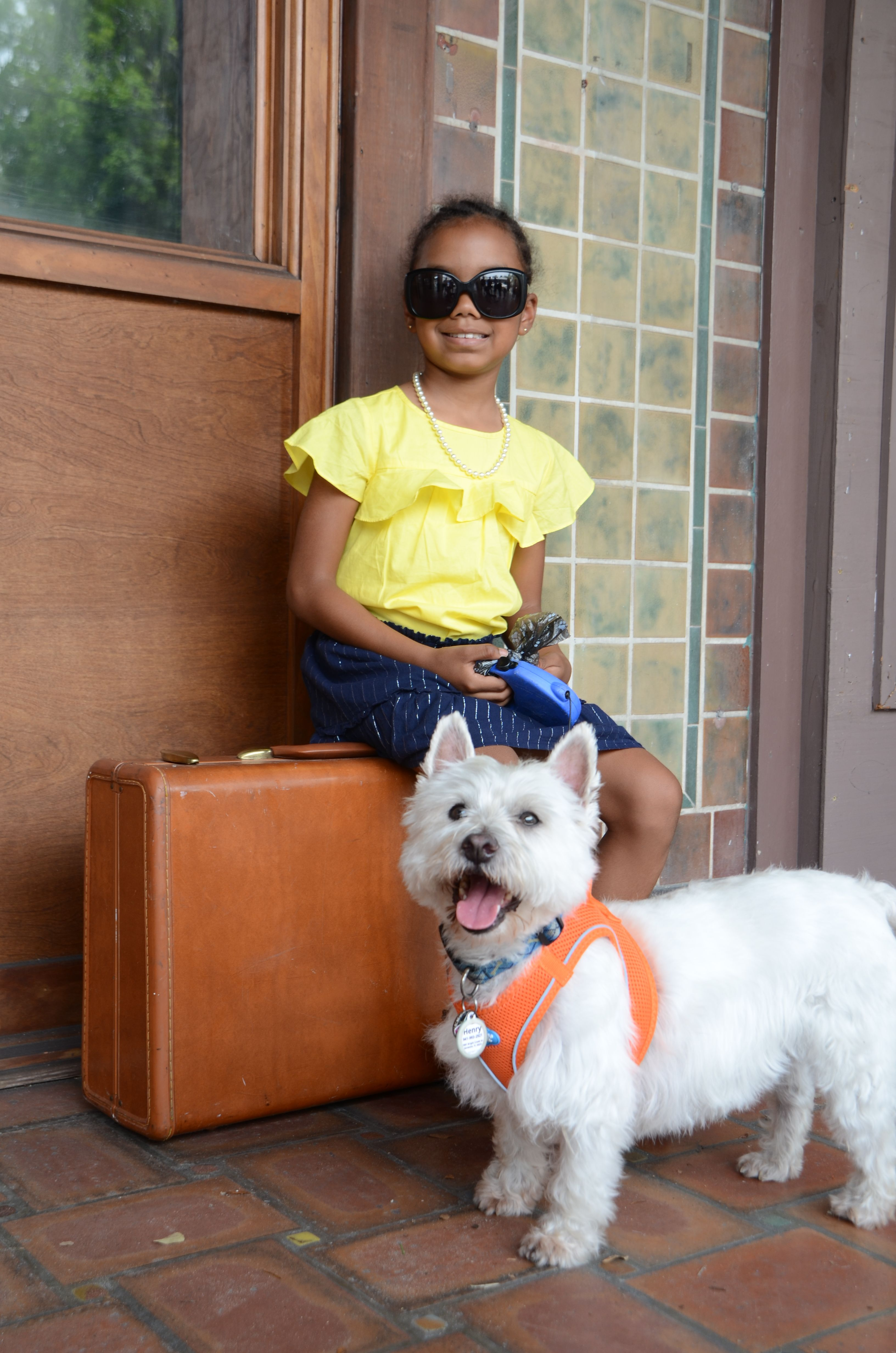 ff0a632c29931 Top  Carter s Skirt  GAP Shoes  Nine West Glasses  Chanel Dog Companion   Mr. Henry Owner-Patricia Zewatsky