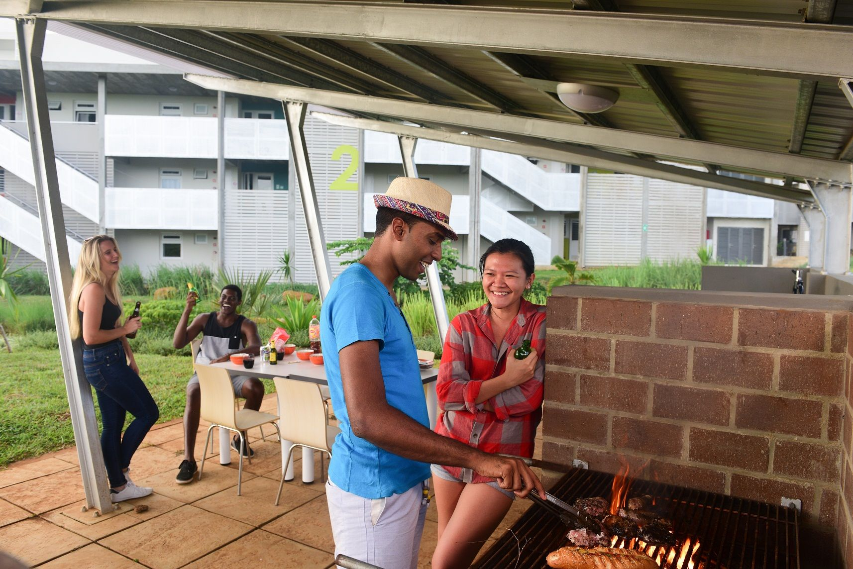 Sit back and relax in the student courtyard, and enjoy a BBQ.