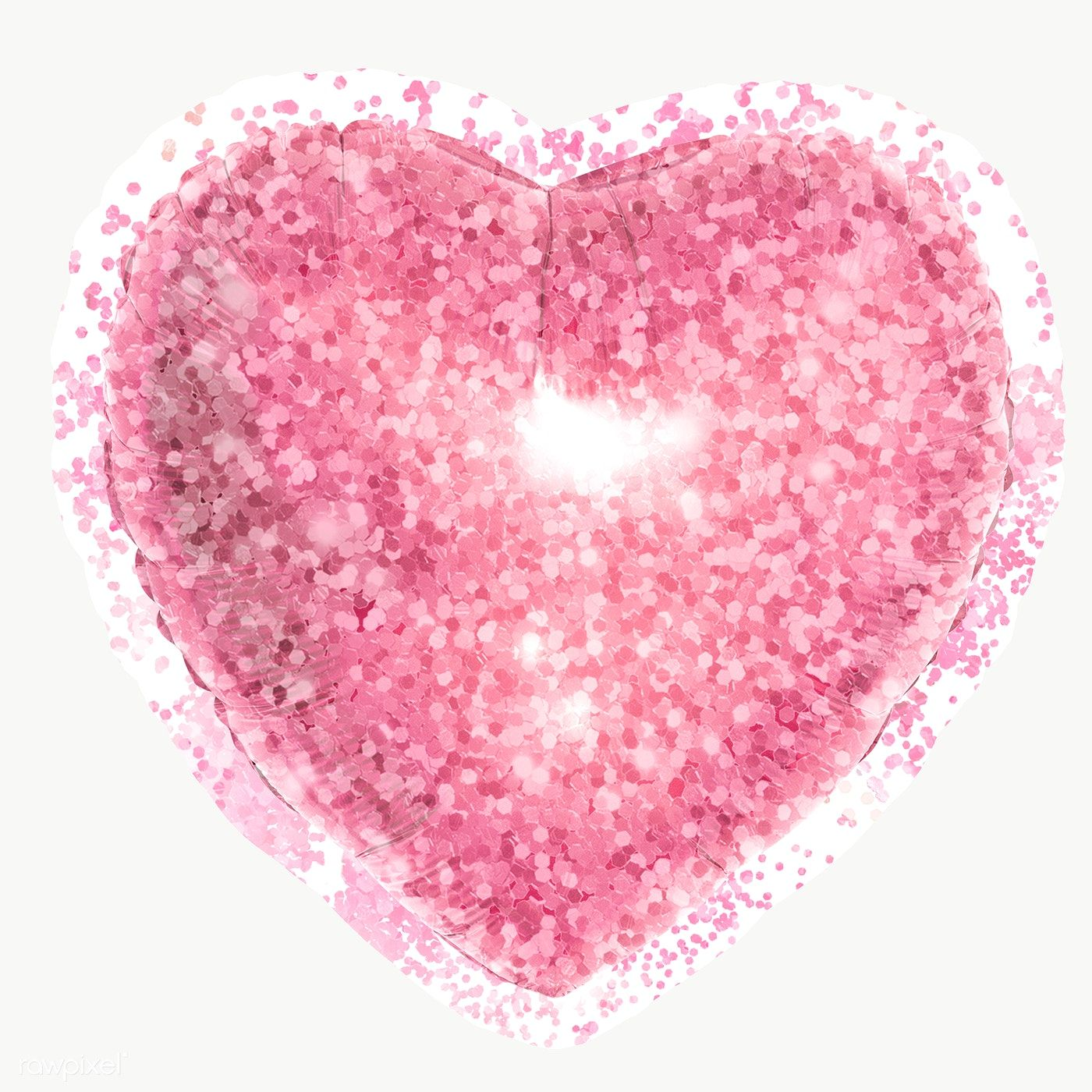 Glittery Pink Heart Sticker Overlay With A White Border Design Element Free Image By Rawpixel Com Donlaya Heart Stickers Pink Heart Pink Aesthetic