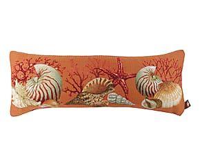 Cuscino in cotone misto Portofino arancione - 60x25 cm